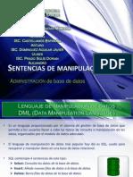Sentencia de Manipulacion DML