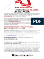 #ICantBreathe/ Dec. 2014-Jan. 2015 Calls-to-Action Flyer, Housing Works Advocacy Actions