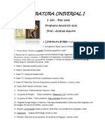 Analítico 2014- Literatura Universal I