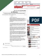 11-12-2014 'Concluyen Los Trabajos en El Canal Rodhe de Reynosa'