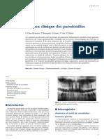 Examen Clinique Des Parodontites