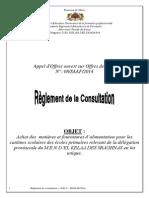 Réglement de La Consultation N