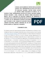 Convenio Coalicion Federal 2014 2015 PRI PVEM