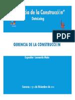 1 Capitulo II Gerencia de La Construccion