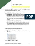 Cara Membuat Mail Merge Di Word 2007