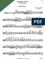 Schumann Evening Song Cello