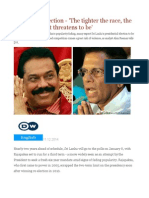 Sri Lankan Election - 'the Tighter the Race, The More Violent It Threatens to Be'