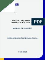 Manual Sercop Desagregacion Tecnologica