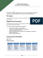 OpenERP Programme Formation Fonct Version Longue 2014