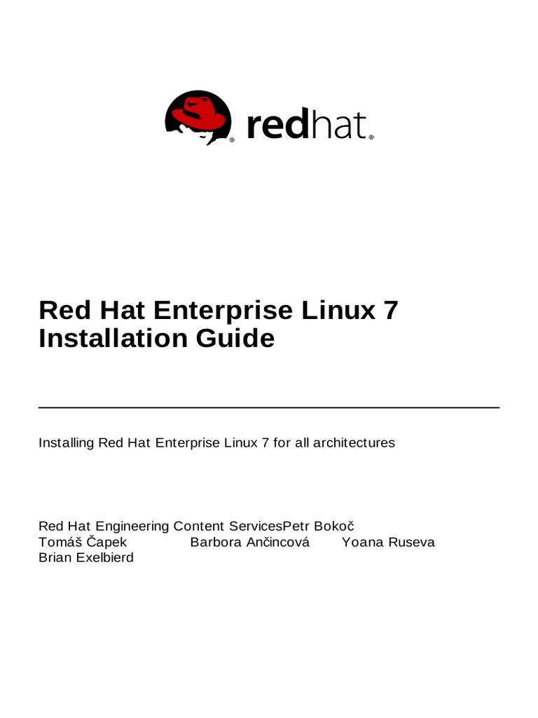 Red hat enterprise linux 7 installation guide en us installation computer programs file system
