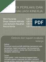 bab 11 aspek perilaku dan evaluasi kinerja