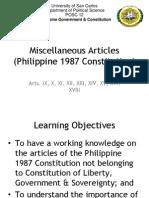 Miscellaneous Articles
