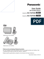 Panasonic Tgp500 Users Manual