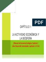 La Actividad Economica y La Biosfera