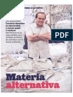 Materia Alterantiva Reciclaje