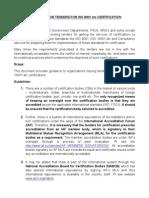 Guidelines Tendersfor ISO 9001