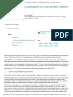 Asociación de Variables Cualitativas_ El Test Exacto de Fisher y El Test de Mcnemar