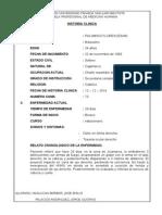 Historia Clinica Cama 73