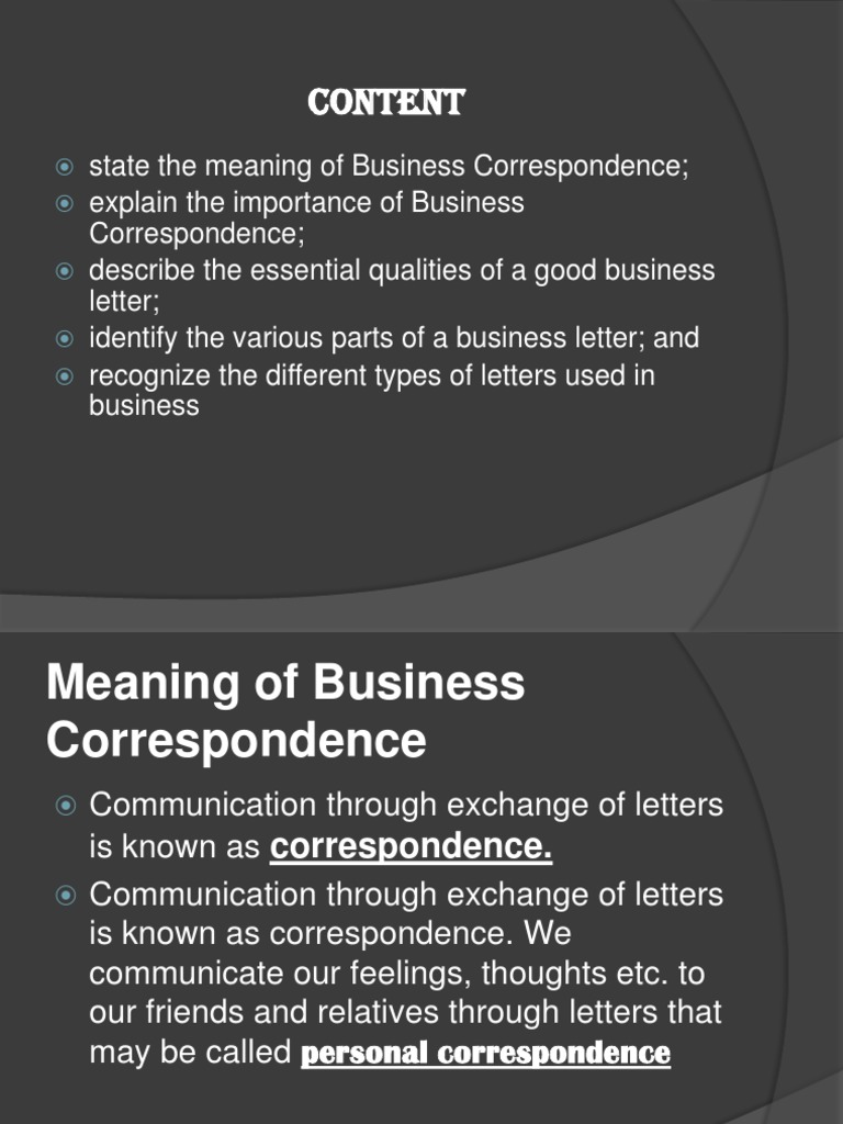 the meaning of business