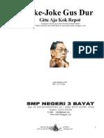 Joke-Joke Humor Gus Dur 1,...SMPN 3 Bayat Klaten