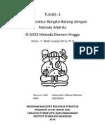 Tugas 1-Analisis Struktur Rangka Batang Dengan Metoda Matriks
