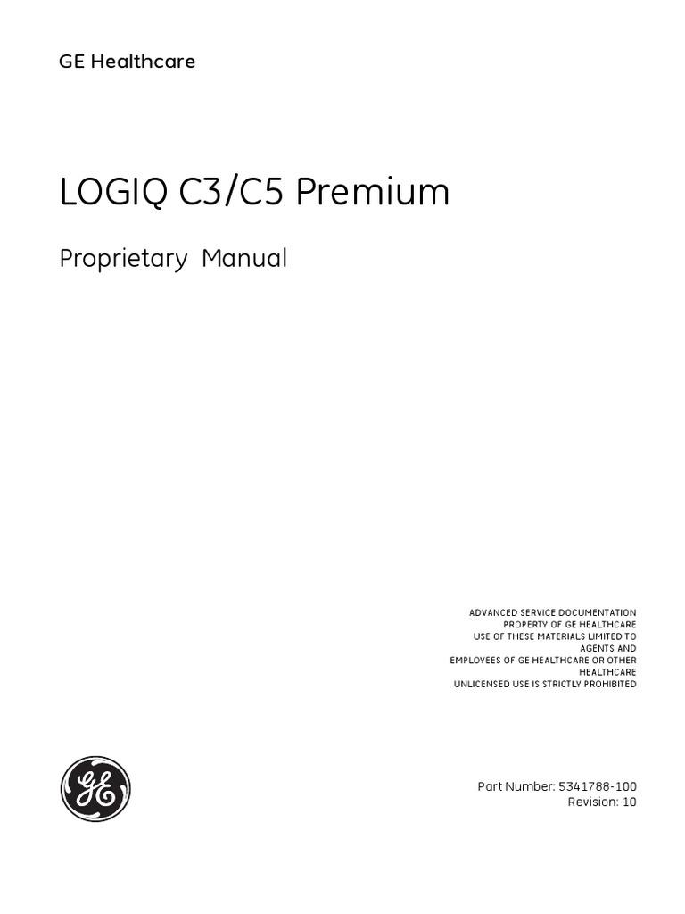 logiq c3 c5 premium prp 5341788 10 00 pdf trade secret rh scribd com GE Logiq P5 GE Logiq P5