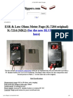 ESR Meter Specifications