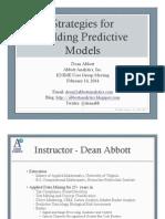 Strategies for Predictive Analytics - Dean Abbott Feb2014
