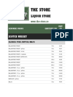 Price List | Whisky | Beer