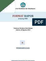 Format Rapor Jenjang SMK