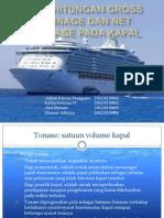 Penghitungan Gross Tonnage Dan Net Tonnage Pada Kapal