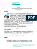 Call for IPSF-FIP Policy Internship 2015