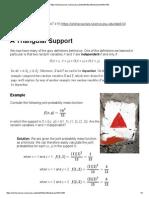 Triangular Support
