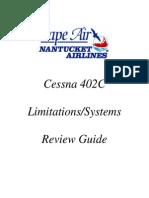 Cape Air 402C systems info