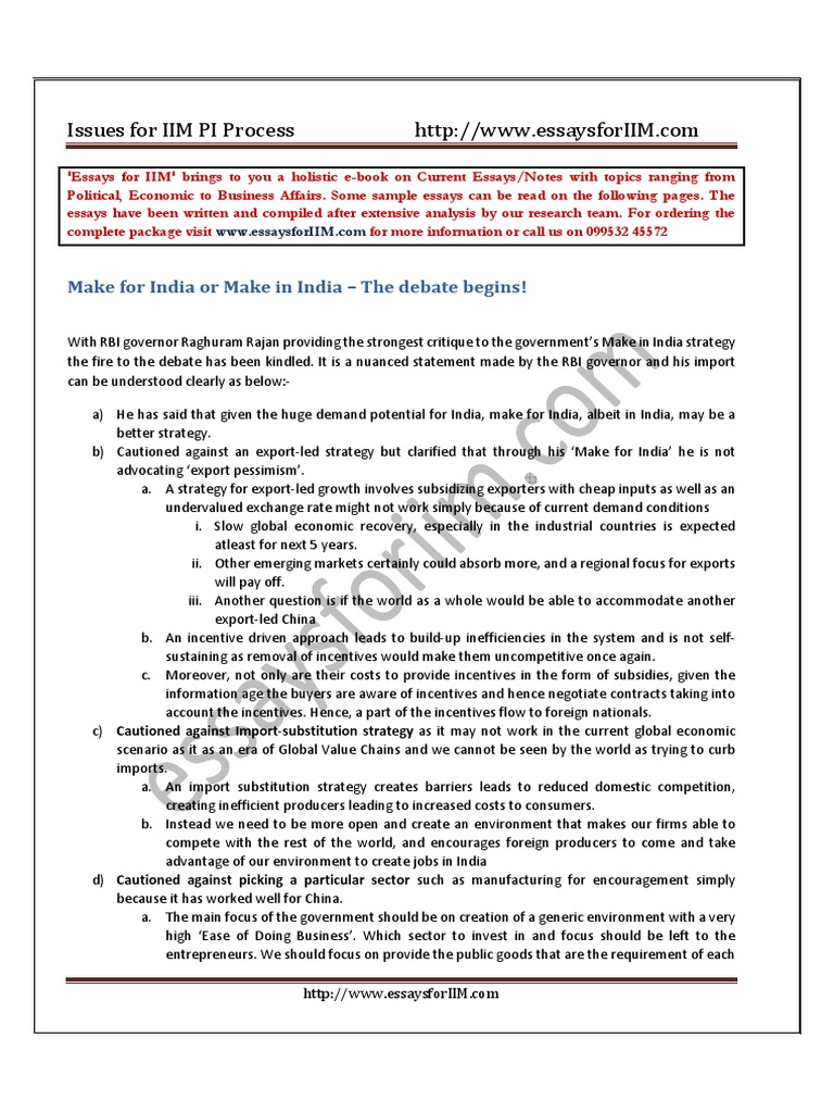 quantitative ability essay