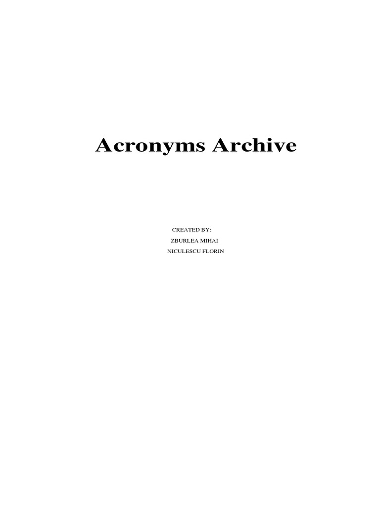 Acronyms Operating System Computer Network - Invoice service usenet nl