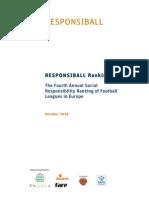 Social Responsibility Ranking in Football (2014)