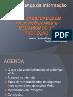 Vulnerabilidades Em Aplicações Web e Mecanismos de Proteção