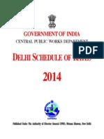 Delhi Schedule of Rates Civil - 2014