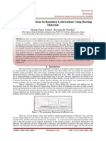 Analysis of Conditions in Boundary Lubrications Using Bearing Materials