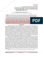 A Review of Issues in Environmentally Conscious Manufacturing and Product Recovery