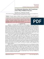 A Novel Approach of Harmonic Reduction with Transformer Connected 3-Phase Multilevel Inverter