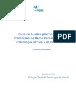 Guia de Buenas Practicas en Proteccion de Datos Personales en Psicologia Clinica y de La Salud