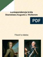 Korespondencja Króla Stanisława Augusta z Wolterem