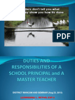 Duties and Responsibilities of a School Principal And