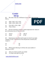 3rd Chapter Gases Mcqs