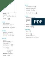 Useful Formulas