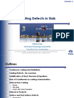 Casting Defect in Slab