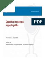 Geopolitics of Resources