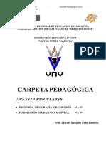 Carpeta Pedagogica 2014 - Prof. Marcos Cruz Huertas